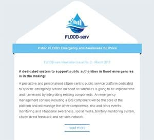FLOOD-serv Second Newsletter Issue now available!